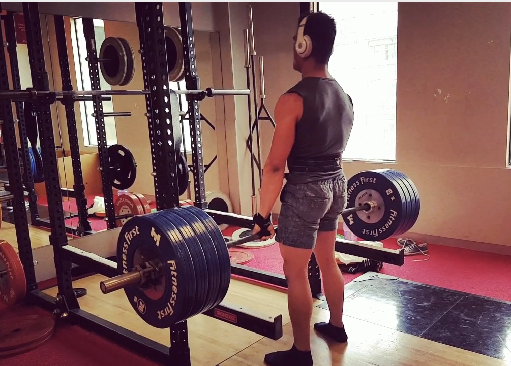 180kg Rack Deadlifts x 31 reps
